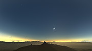 Objetos no céu durante o eclipse total do Sol de La Silla (em espanhol)