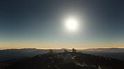 Real time video af den totale solformørkelse fra La Silla-observatoriet