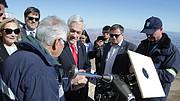 De Chileense president op La Silla
