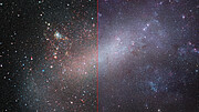 Comparison of the Large Magellanic Cloud in infrared and visible light