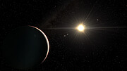 Animated artist's impression of the six-exoplanet system
