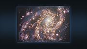 Многоцветные изображения галактики NGC 4254, полученные на VLT и на ALMA