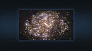 Многоцветные изображения галактики NGC 1087, полученные на VLT и на ALMA