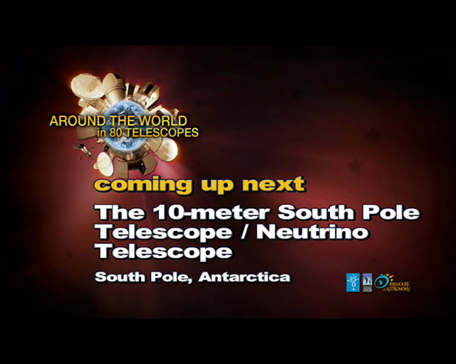 10-meter South Pole/IceCube Neutrino Telescopes (AW80T webcast)