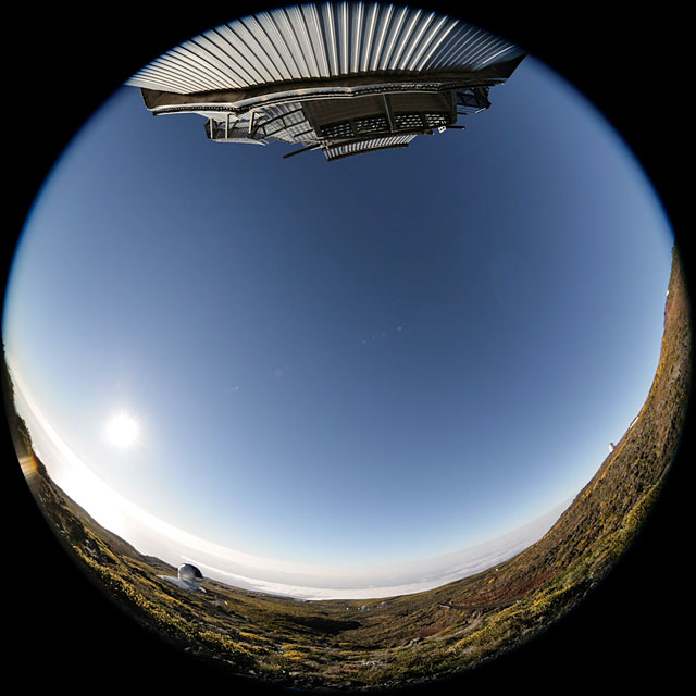 Fulldome sunset time-lapse at Observatorio del Roque de los Muchachos