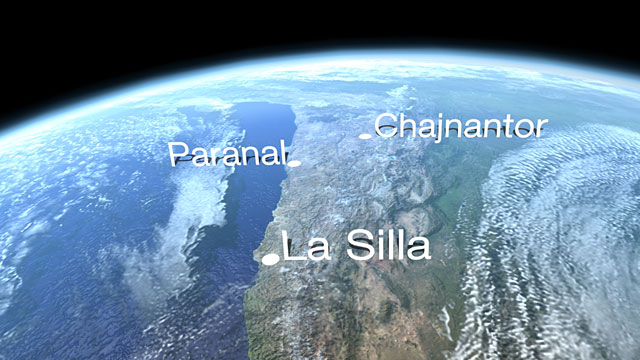 ESO sites in Chile