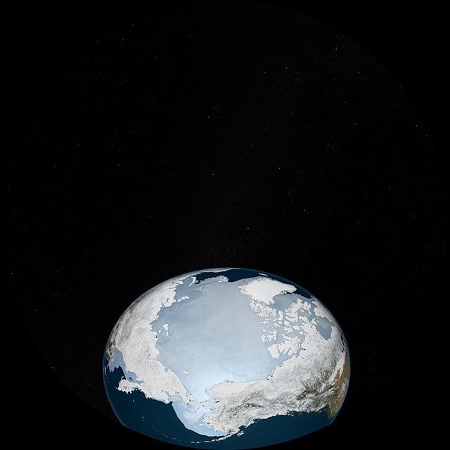 Dynamic Earth: visualisation of Arctic and Antarctic sea ice