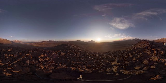 Virtual Reality tour of ALMA and the VLT