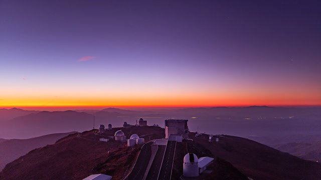 La Silla after sunset time-lapse