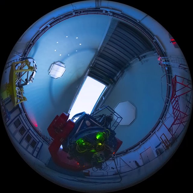 Inside the MPG/ESO 2.2-metre telescope at La Silla
