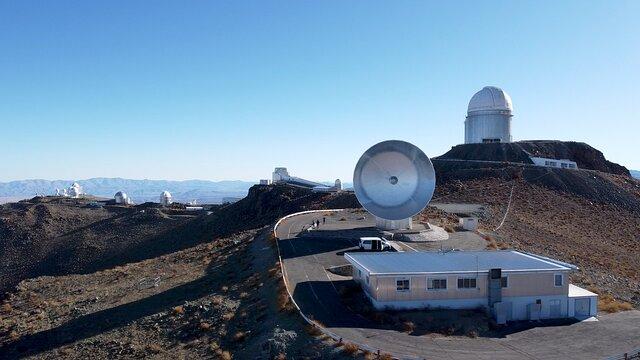 Drone flight over La Silla Observatory