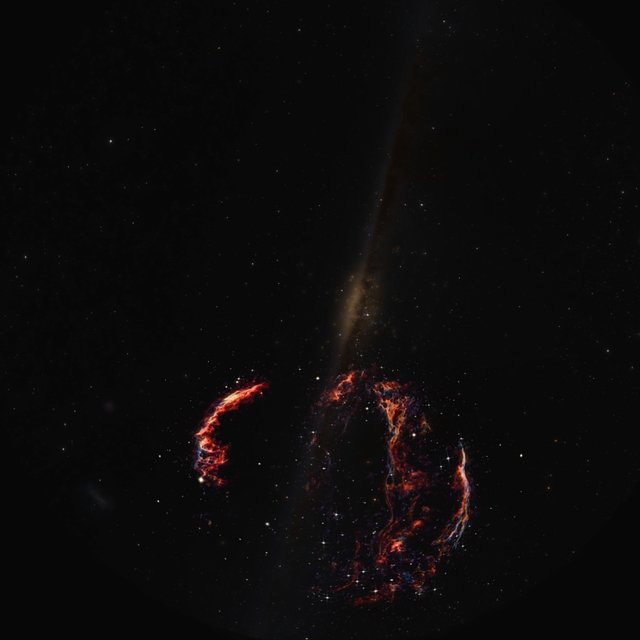 Artist's impression of the Veil Nebula (fulldome)