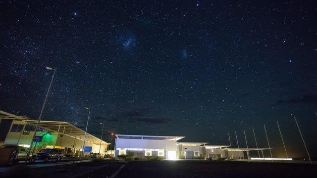 Time-lapse pan across ALMA OSF