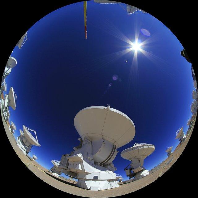 ALMA antennas time-lapse