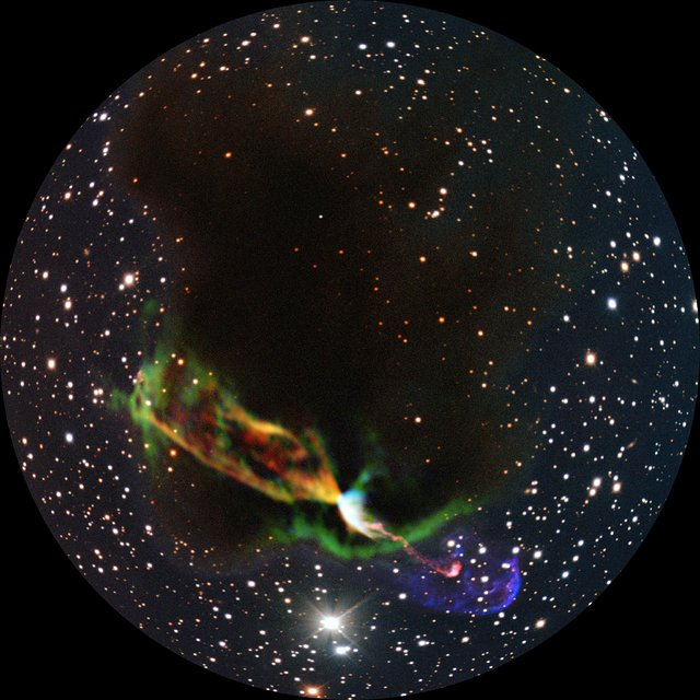 Exploring the Herbig-Haro object HH 46/47 with ALMA (fulldome)