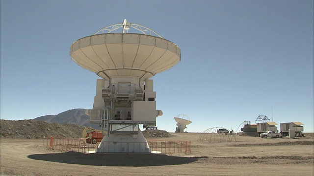 Two antennas for ALMA