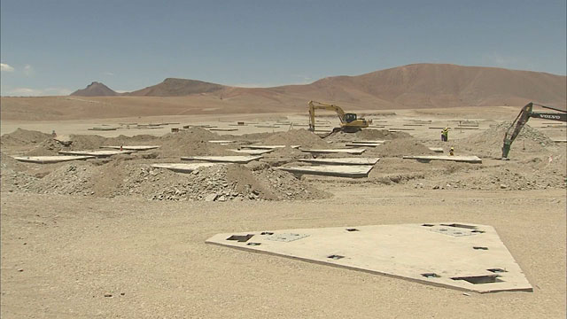 Constructions at the ALMA Site