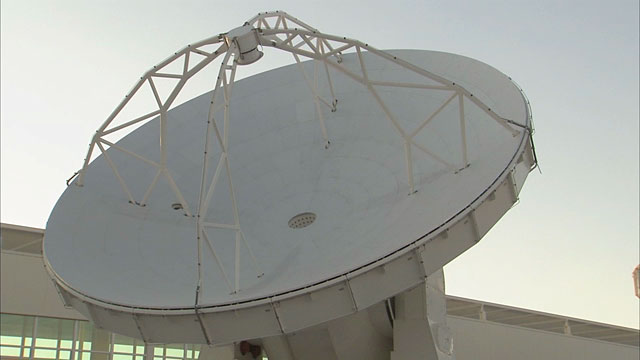 An ALMA antenna on the move