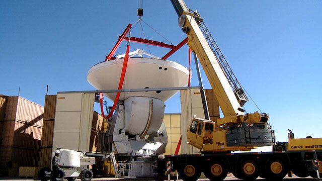 The assembling of an ALMA antenna at the Operations Site Facility (OSF) 5