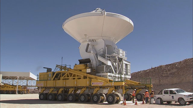 Relocation of an ALMA AEM antenna to the OSF (part 21, time-lapse)