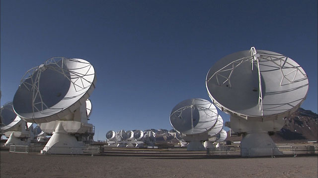 The ALMA array at the Chajnantor plane (part 12)