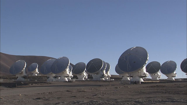 The ALMA array at the Chajnantor plane (part 15)