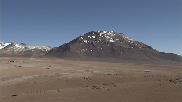 The ALMA array at the Chajnantor plane (part 3)