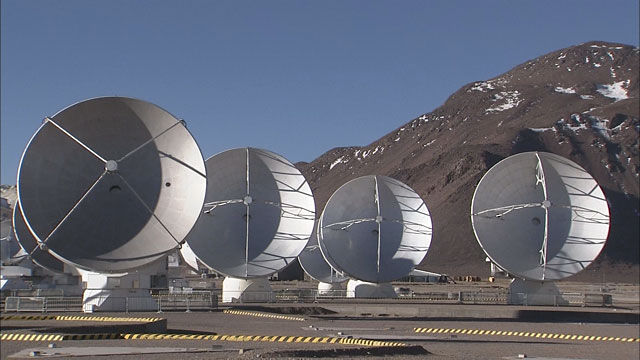 Time-lapse sequence of ALMA antennas at Chajnantor (part 2)
