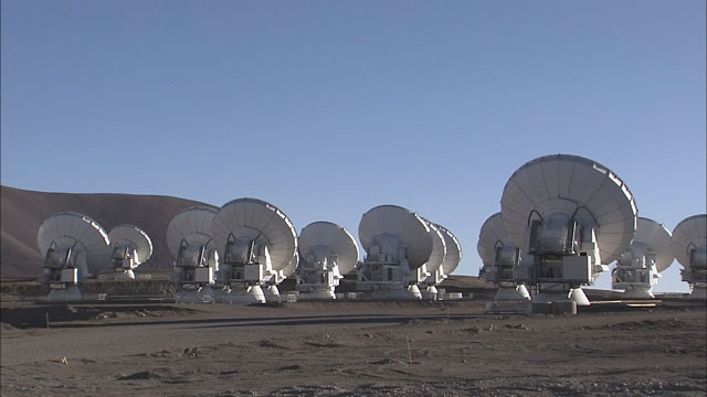 Time-lapse sequence of ALMA antennas at Chajnantor (part 3)