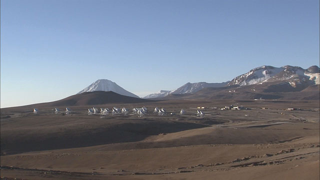 Time-lapse sequence of ALMA antennas at Chajnantor (part 6)