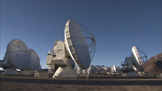 Time-lapse sequence of ALMA antennas at Chajnantor (part 8)