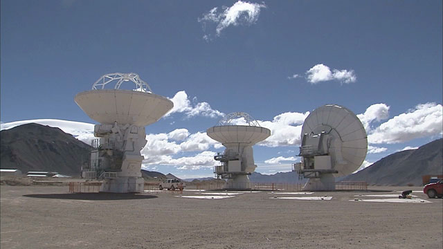 ALMA antennas at Chajnantor