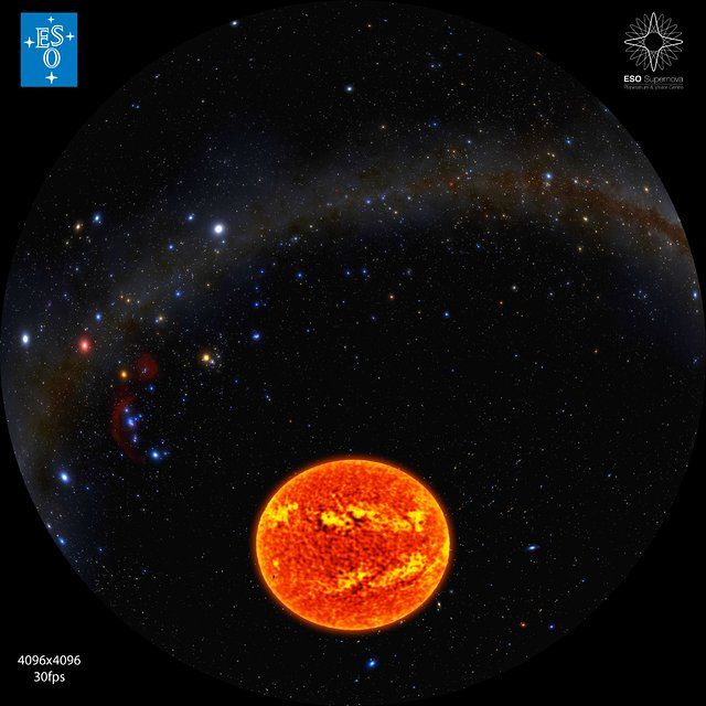 ALMA view of the Sun (fulldome)