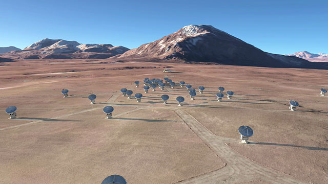 The future ALMA array on Chajnantor (artist's rendering) — 1