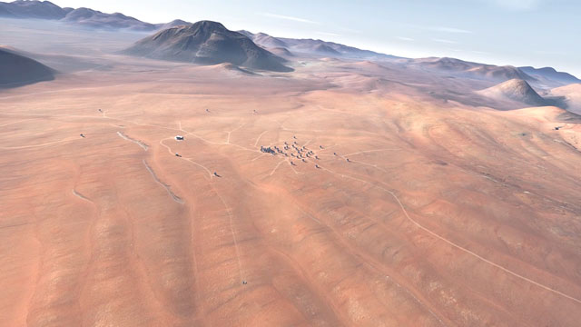 Flying over the Chajnantor plateau (artist's impression)
