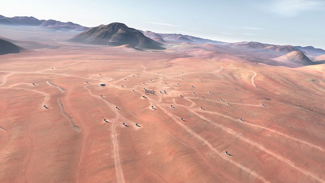 The future ALMA array on Chajnantor (artist's rendering) - 2