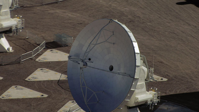 Aerial view of the ALMA AOS - 9