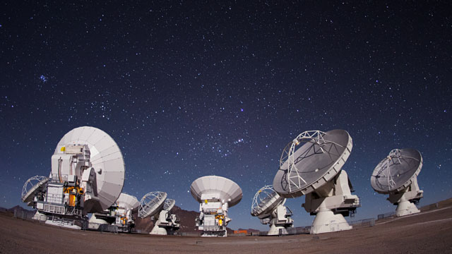ALMA operations time-lapse