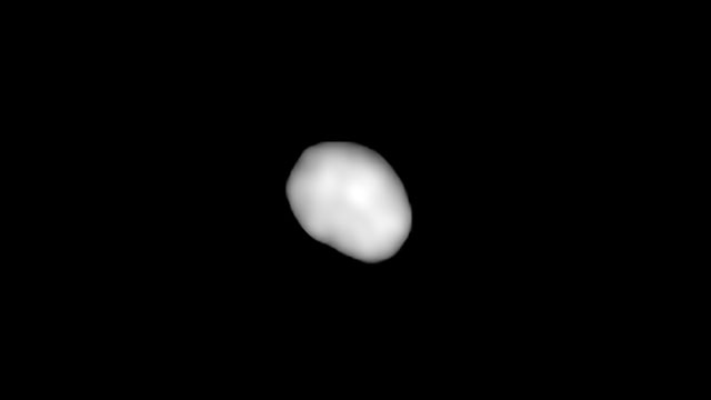 Animation of the asteroid Juno as imaged by ALMA