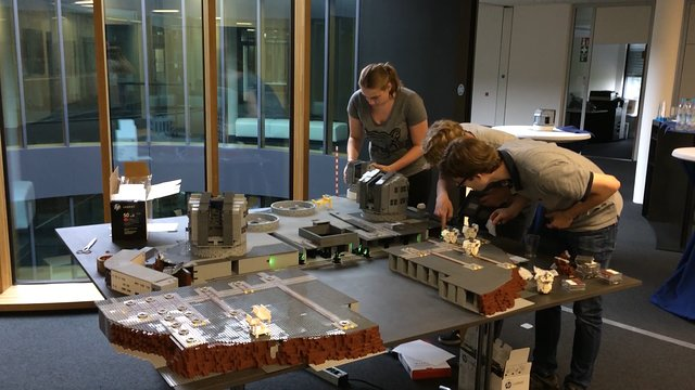 Il montaggio dell'interferometro di LEGO®