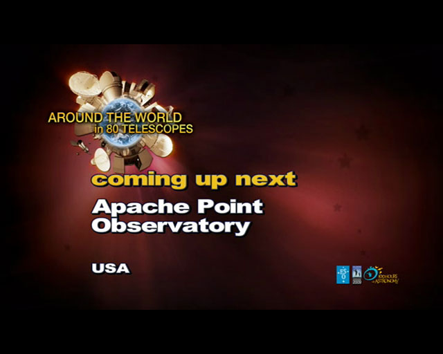 Apache Point Observatory (AW80T webcast)