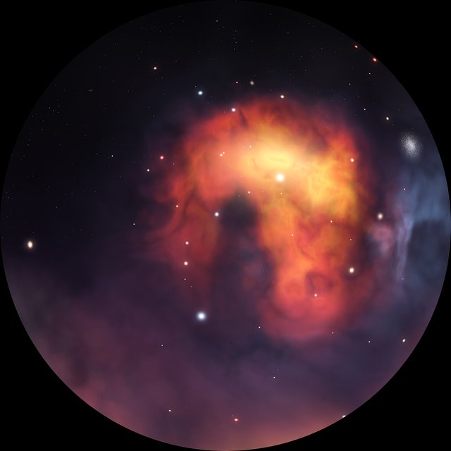 Travelling through a nebula (fulldome)