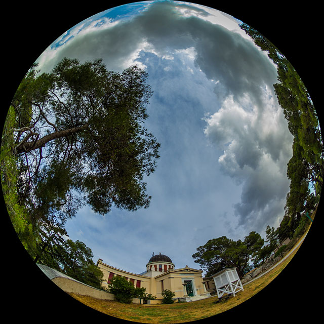 Clouds dancing over the Athens Observatory