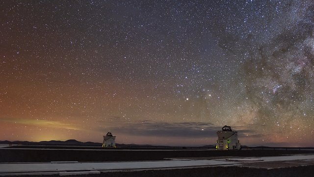 VLT Auxiliary Telescopes at night