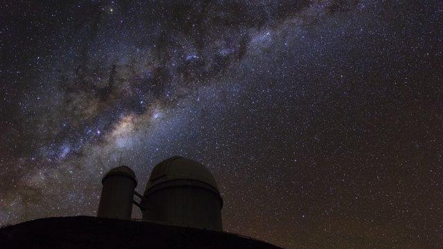 Time-lapse de la Vía Láctea en La Silla