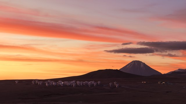 Technicolour sunset over ALMA