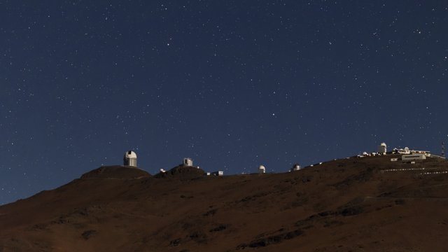 The light of night at la Silla