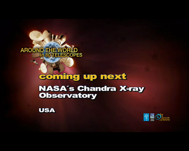 Chandra X-Ray Observatory (AW80T webcast)