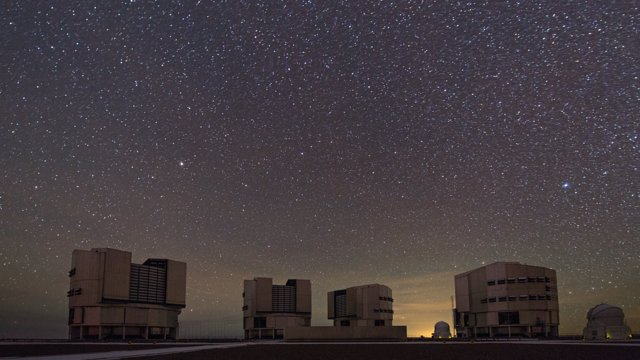 Morning observations time-lapse at Paranal