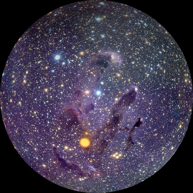 Through the Eagle Nebula in infrared (fulldome)